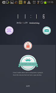 Crown Sticker go locker theme- screenshot thumbnail