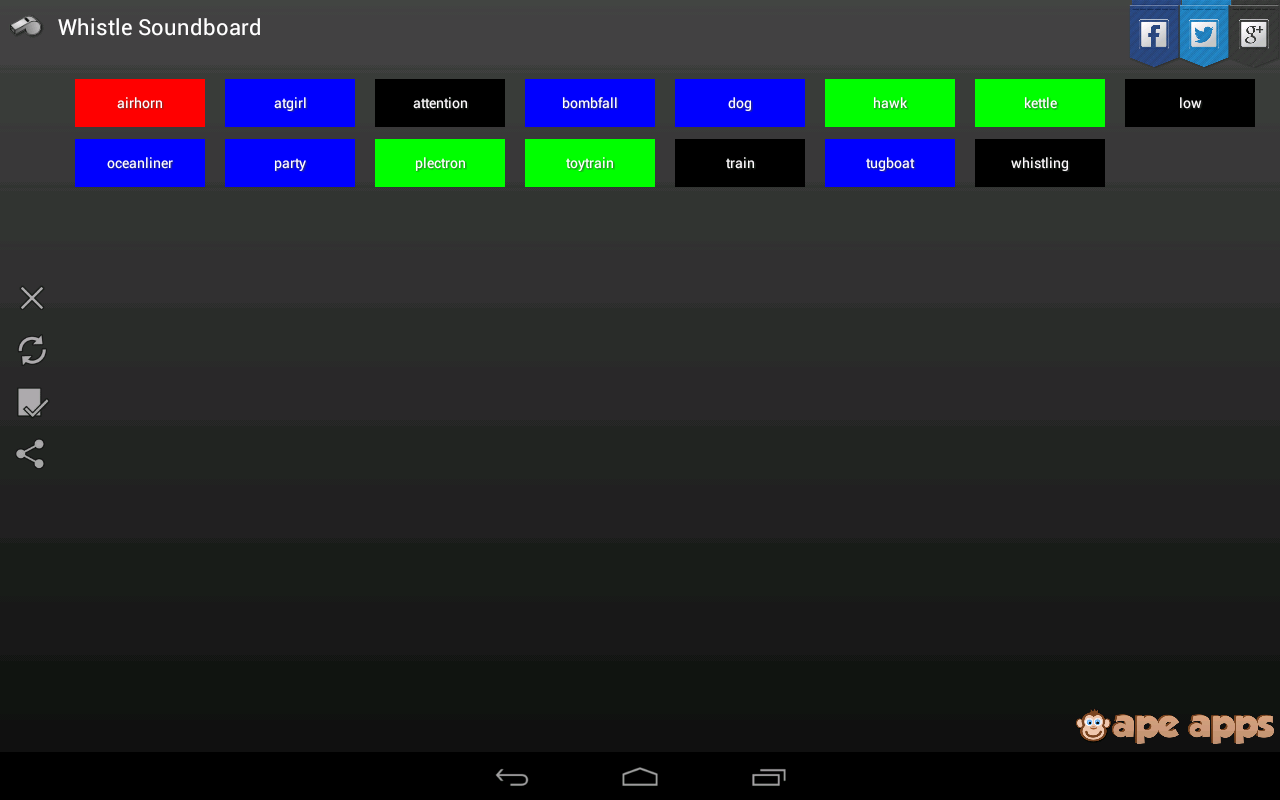 Whistle Soundboard - screenshot