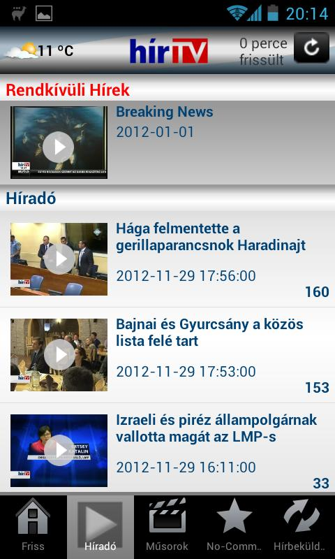 HírTV- screenshot
