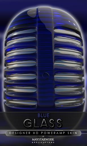 ガラス poweramp 皮膚ブルー