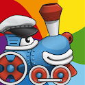 Rainbow Train: teach colors lv icon