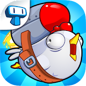 Chicken Toss - Crazy Chicken Launching Game