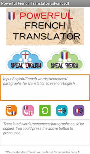 Powerful French Translator