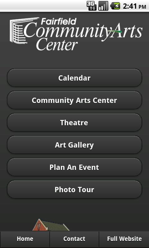 Fairfield Community Arts- screenshot