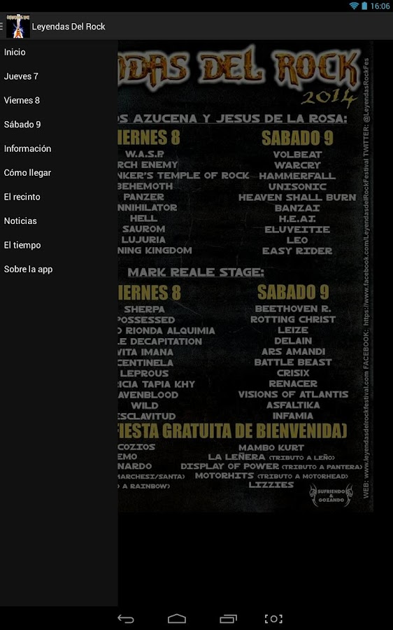 Leyendas del Rock 2017- screenshot