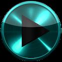 Poweramp SKIN TURQUOISE METAL icon