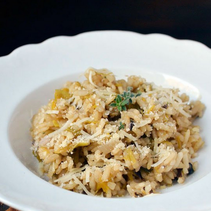 Mushroom and Leek Risotto Recipe