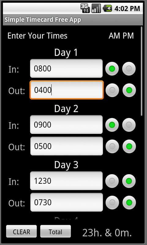 Simple Timecard Free- screenshot