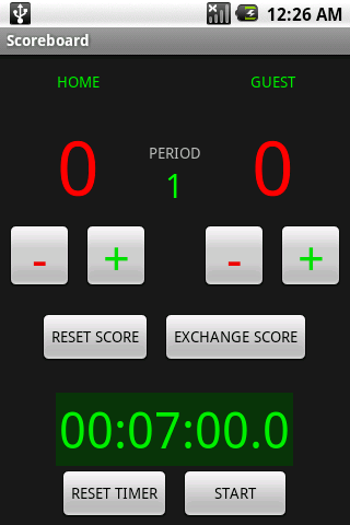 Scoreboard with Timer - screenshot