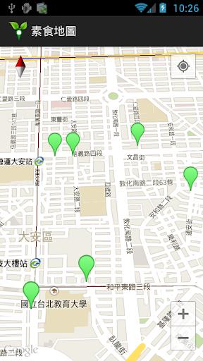 素食 餐廳 地圖
