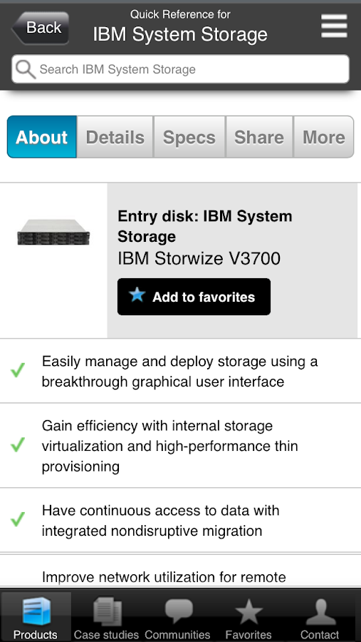 System Storage Quick Reference - screenshot