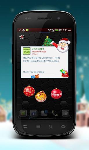 GO SMS Hello Santa Popup