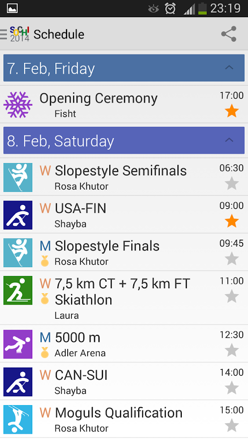 2014 Sochi Winter Games - screenshot