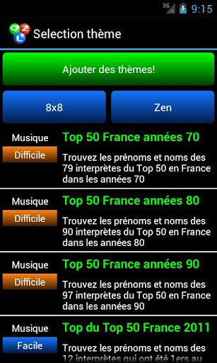 Qizzle pack Top 50 France