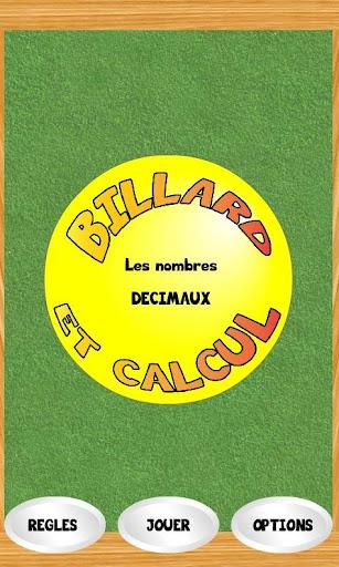 Billard et Nombres décimaux