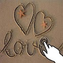 Magic touch: Drawings in sand logo