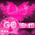 GO SMS Pro Theme Pink Heart icon