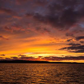 Chautauqua Sunset by Rick Shick - Landscapes Sunsets & Sunrises ( sunset, chautauqua )