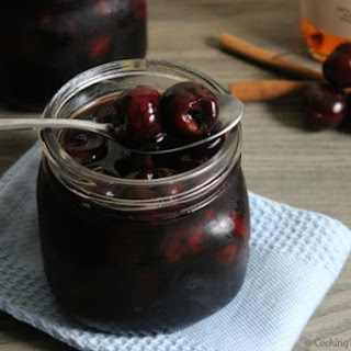 Spiced Boozy Cherries