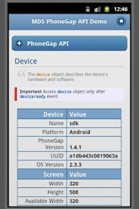 PhoneGap API w/ jQuery Mobile screenshot 1