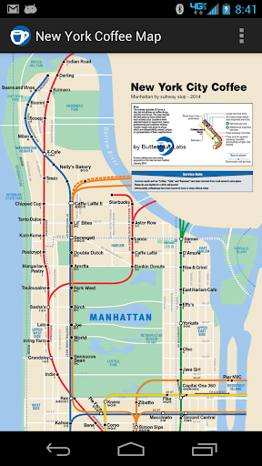 New York Coffee Map