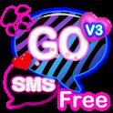 GO SMS PRO Zebra Love Theme 3 icon