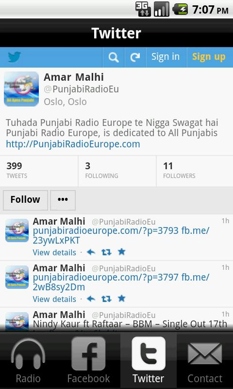 Punjabi Radio Europe- screenshot