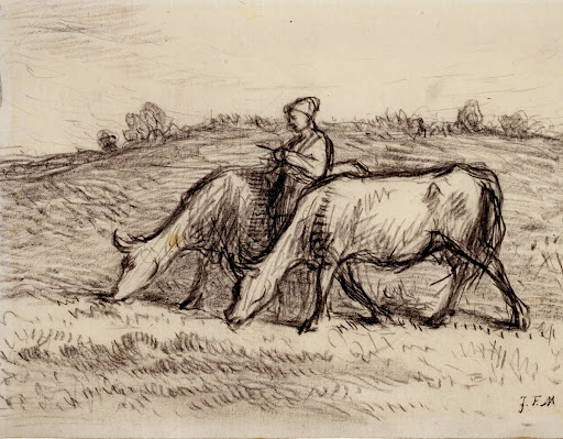 Figure with Cattle