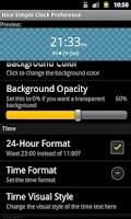 Screenshot of Nice Simple Clock (Widget)