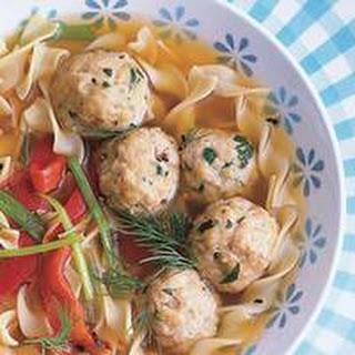 Hungarian-ish Dumpling and Egg Noodle Soup.
