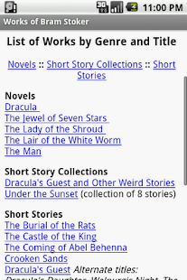 Works of Bram Stoker - screenshot thumbnail