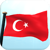 Turkey Flag 3D Free Wallpaper