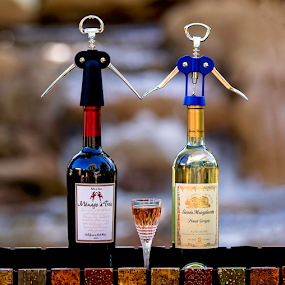 Just for fun by Cheryl Nestico - Artistic Objects Other Objects ( wine, family, wine bottles, fun, cork screws, holding hands,  )