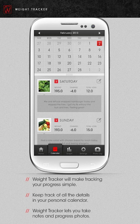 Weight Tracker Free - Journal - screenshot