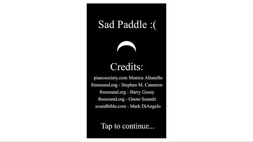 Sad Paddle : Free