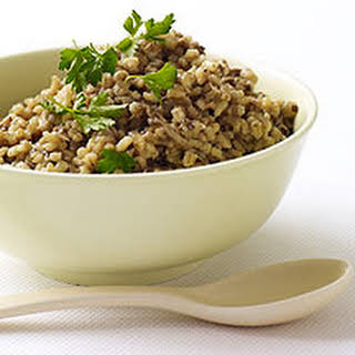 Barley with Mushrooms and Onions.