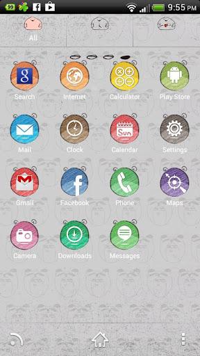 【免費個人化App】Weirdo 怪人 【 GO桌面主题 】-APP點子