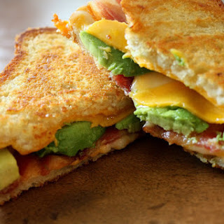 Bacon Avocado Grilled Cheese Sandwich.