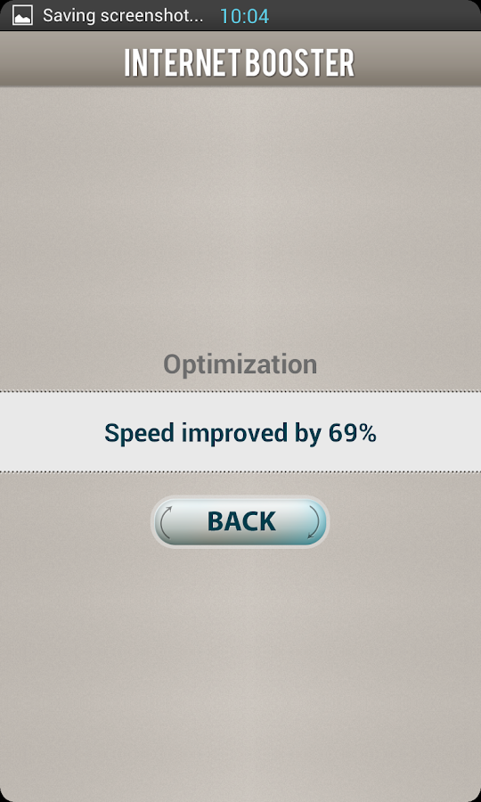 Internet speed up - screenshot