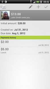 IOU Pro - debt manager - screenshot thumbnail