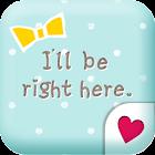 Cute wallpaper★Blue polka dots icon