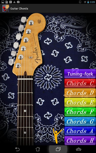 Guitar chords Tuning-fork