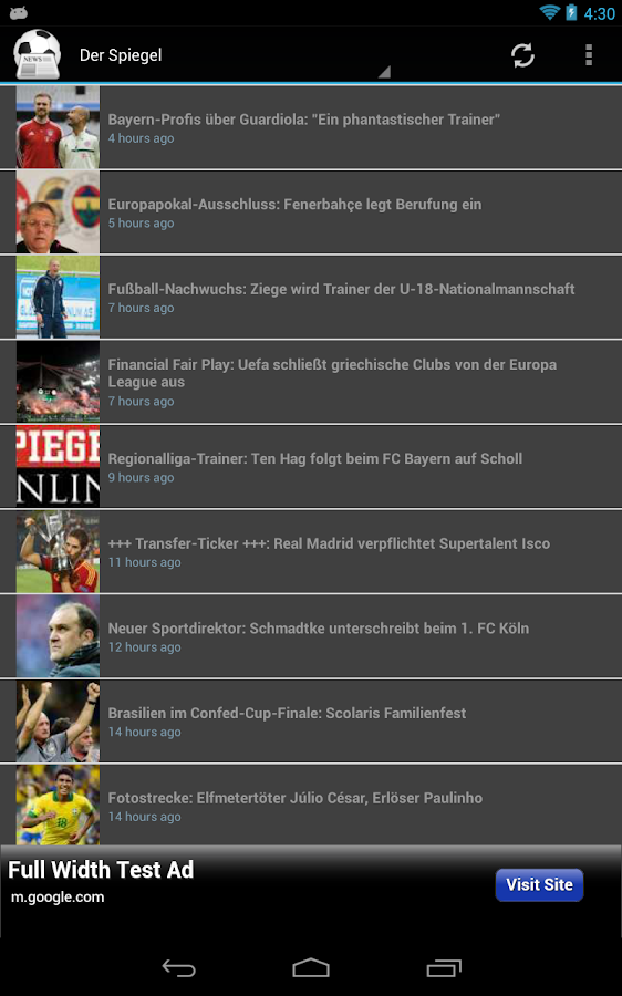European Football News - screenshot