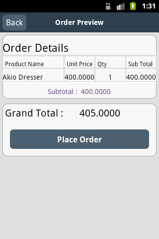 Magento Mobile Store - screenshot