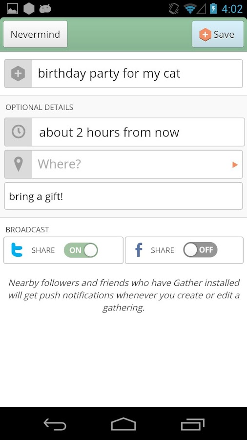 Gather - screenshot