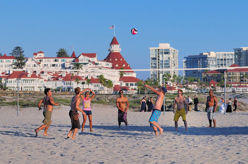 Beach Volleyball in Coronado, near San Diego, California.