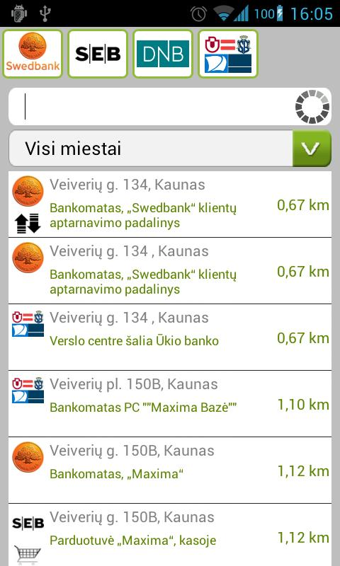 Lietuvos bankomatai- screenshot