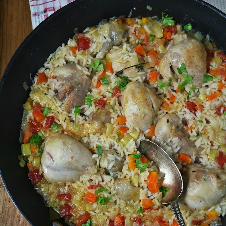 Chicken and Rice in the Wok