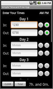 Simple Timecard Free- screenshot thumbnail