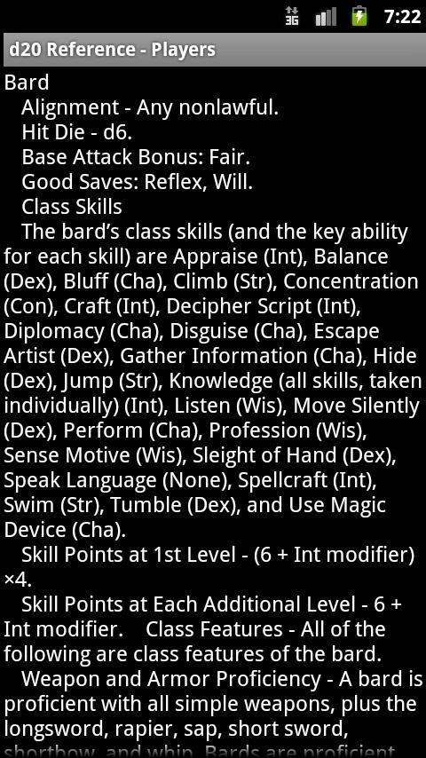 d20 Reference- screenshot